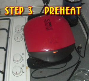 Preheat your apparatus