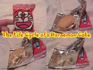 The life cycle of a Doraemon cake
