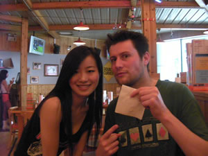 Annie, Hooters, Shanghai (all suitable nicknames)
