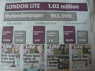 London Lie? London Lite vs thelondonpaper readership figures mystery