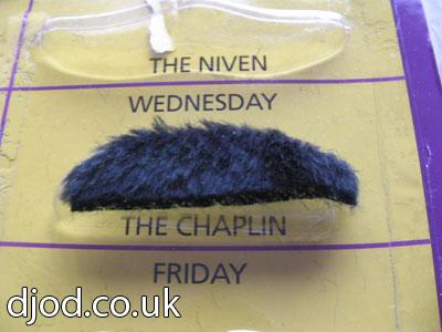 The Chaplin Moustache