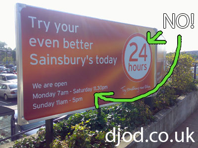 Sainsbury's loses at time