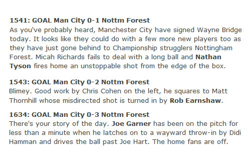 Nottingham Forest Manchester City FA Cup