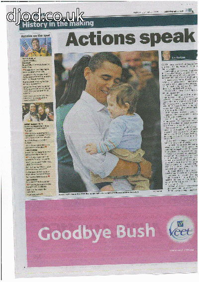 goodbye bush advert newspaper