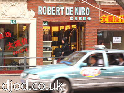 Shanghai cool shop name Robert de Niro