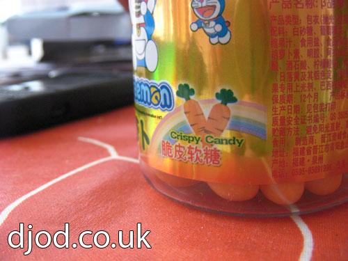 Carrot flavoured gross!