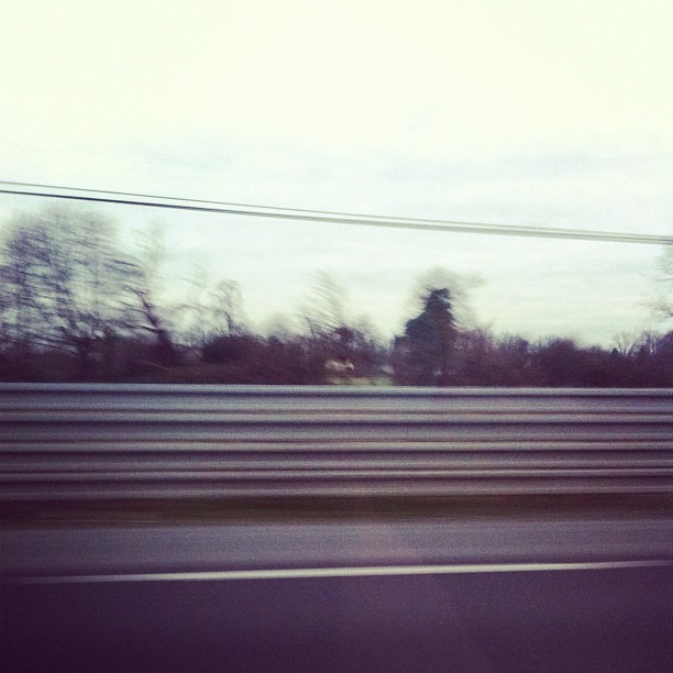 Driving on Le Mans 24hr track. Not the most scenic of pictures, I grant you… #france (Taken wi