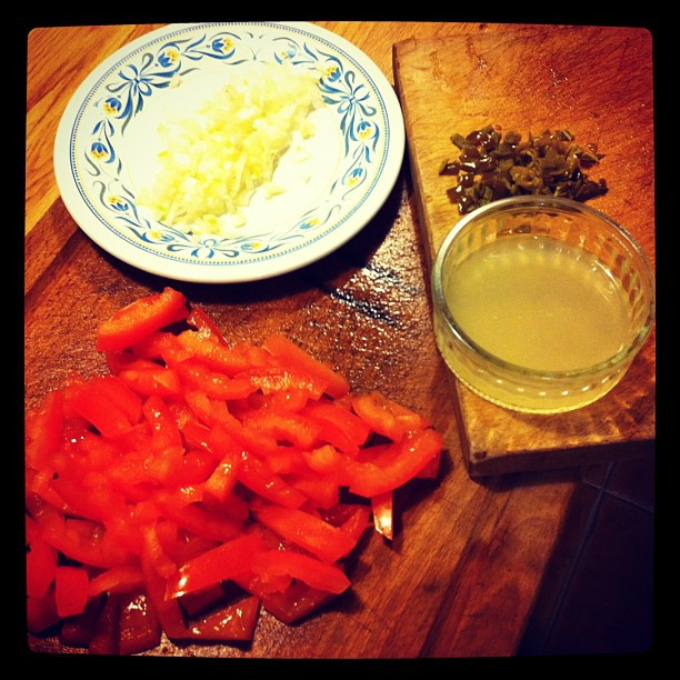 Tomato + chili pepper + onion + lime juice = ? #instagram #food (Taken with instagram)