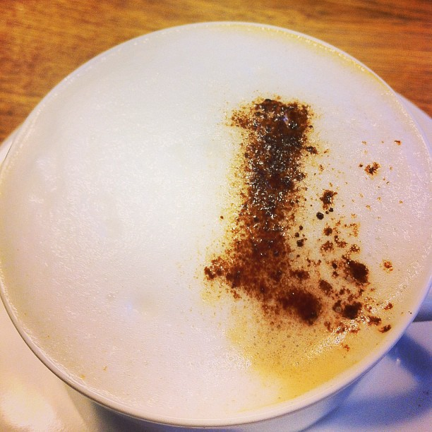 Photo - Coffee art fail
