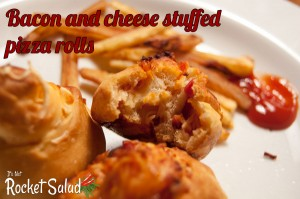 New recipe – Bacon and cheese stuffed pizza rolls!