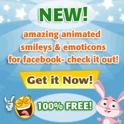 Free animated smilies for Facebook chat!